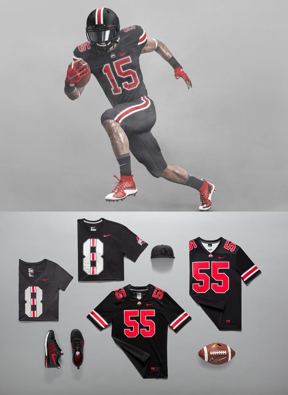 Espn college football on ohio state uniforms espn