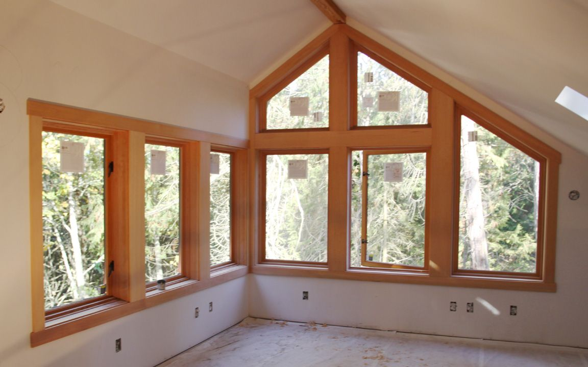 Interior wood windows - Wood Trim Molding Around Row Of Windows October 26 Here S The Window Trim Finished
