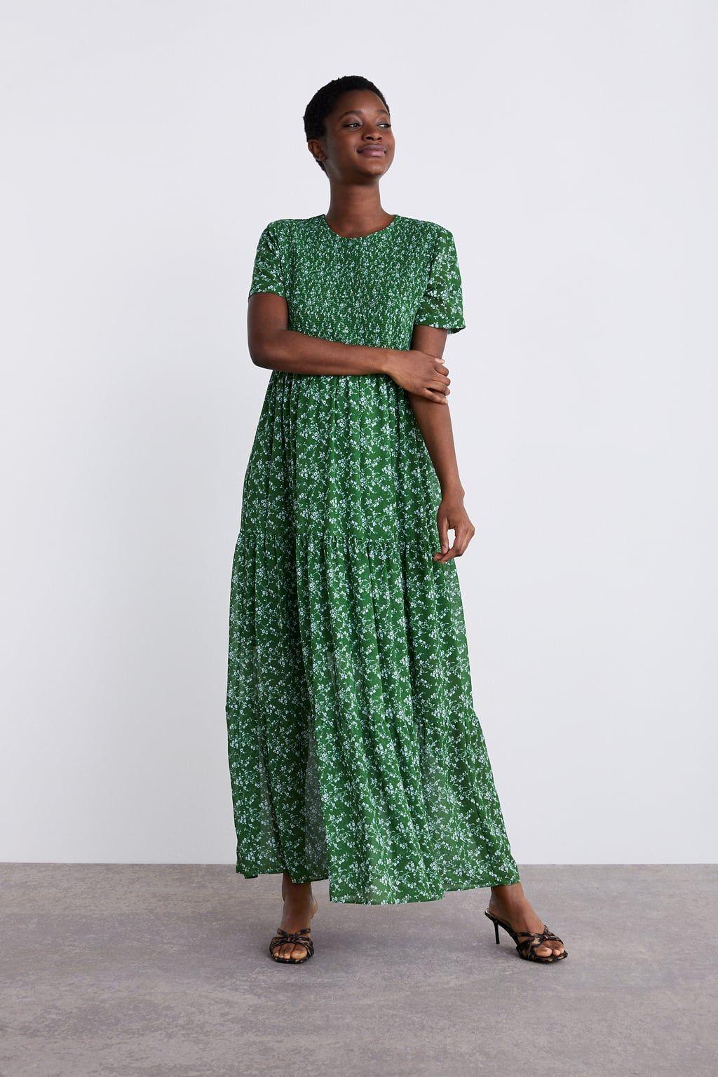 Embroidered mini dress zara green dress green floral