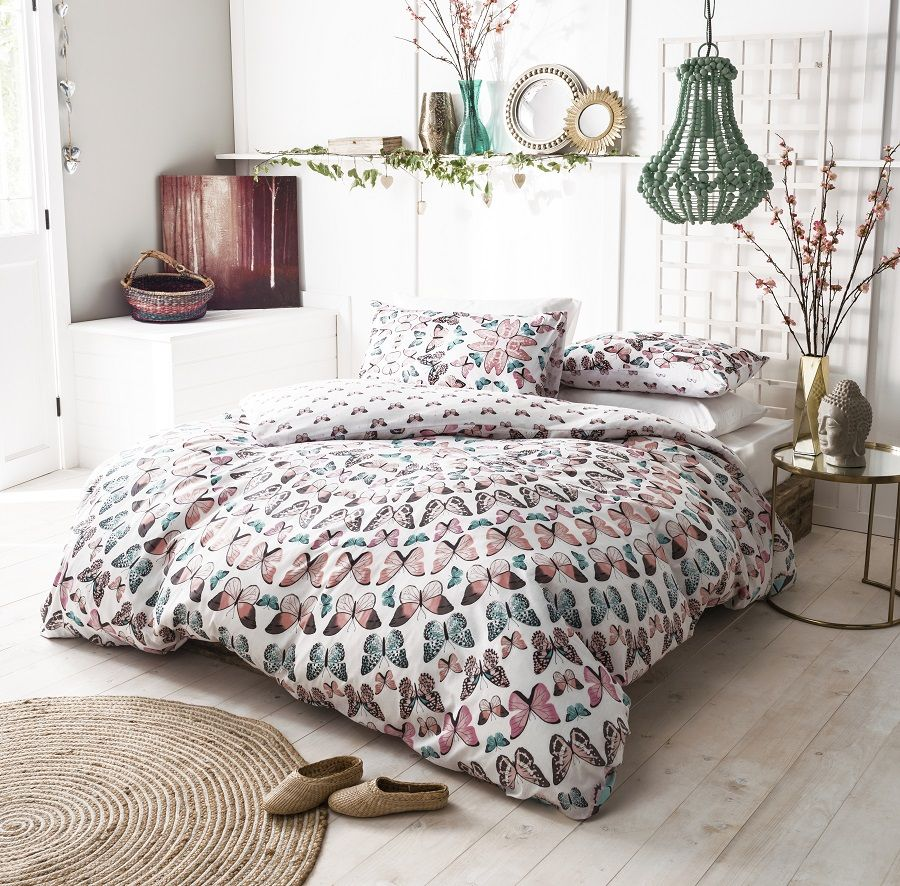 Butterfly Mandala Duvet Quilt Cover Bedding Set
