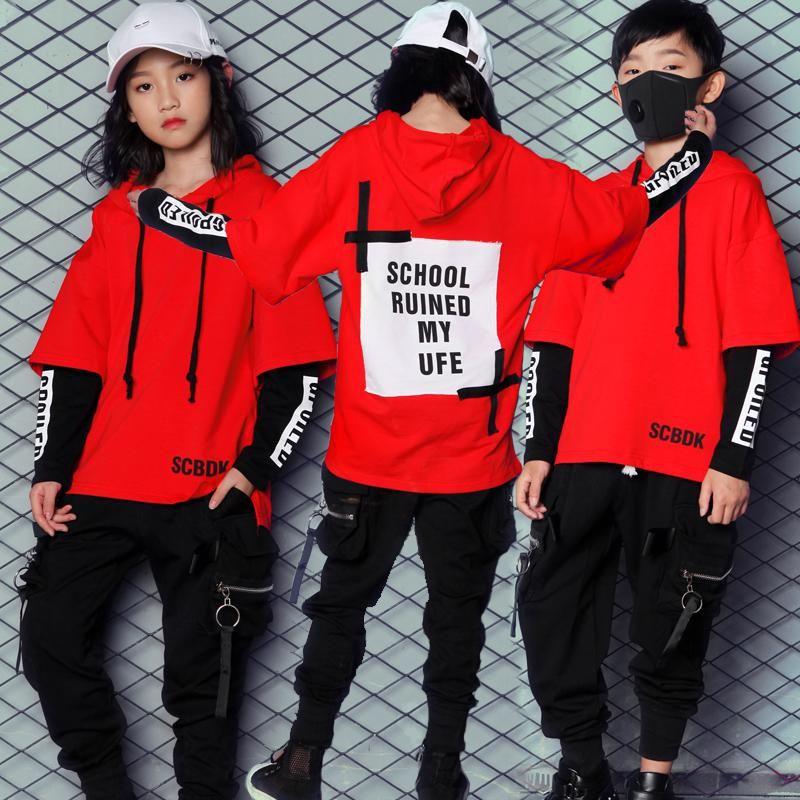 2847ce7d2 New Korean Style Hiphop Dance Clothes for Kids Boys Girls Women Men Children  Jazz Hip Hop