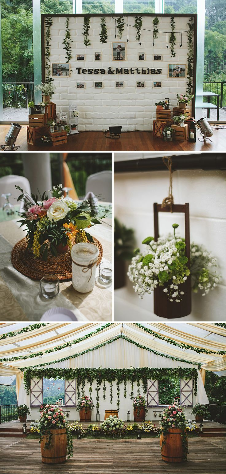 Matthias and tessas rustic wedding at padma hotel bandung wedding gorgeous rustic decor with plenty of greenery and soft pastel colours this rustic and junglespirit Images