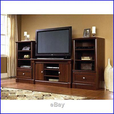 The Sauder Palladia Panel Tv Stand In Cherry Is A Stylish And