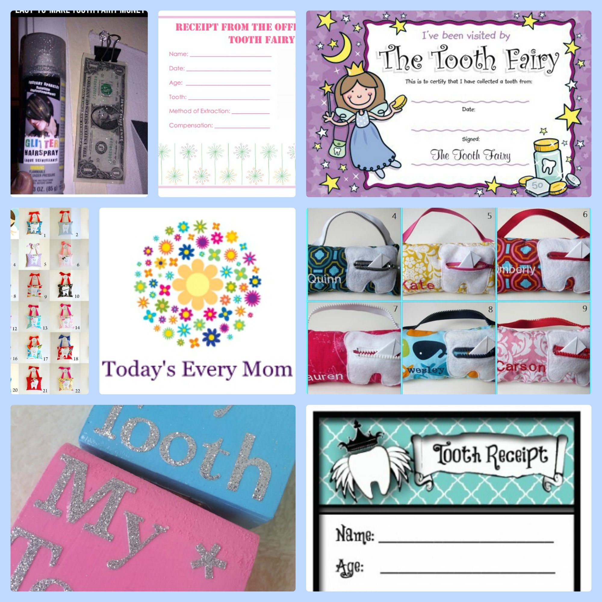 tooth fairy check or money free printable tooth fairy teeth