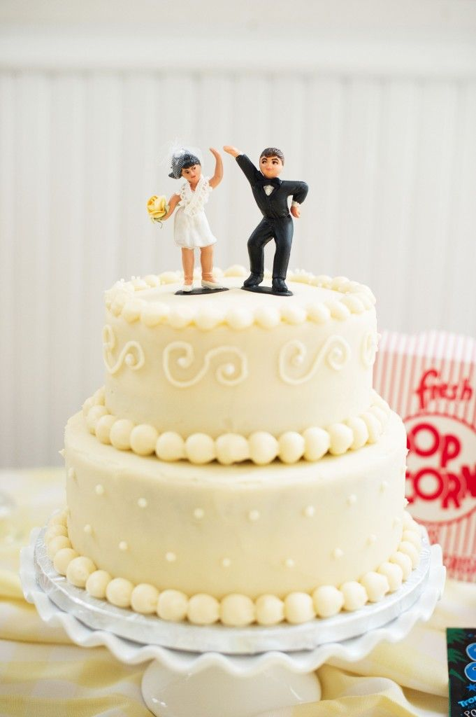 Love this sassy cake topper!! | Vintage 50s Inspired Jewish Wedding ...