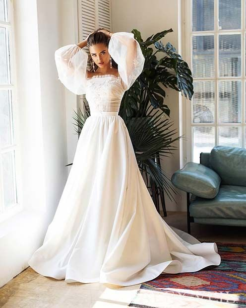 Elegantes traditionelles Brautkleid | MODETRENDS | Pinterest ...