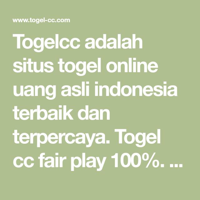 Togelcc Adalah Situs Togel Online Uang Asli Indonesia Terbaik Dan