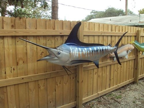 Striped Marlin Fish Mount Two Sided Wall Mount Fish Replica 106 Inches Fish Mounts Fish Marlin