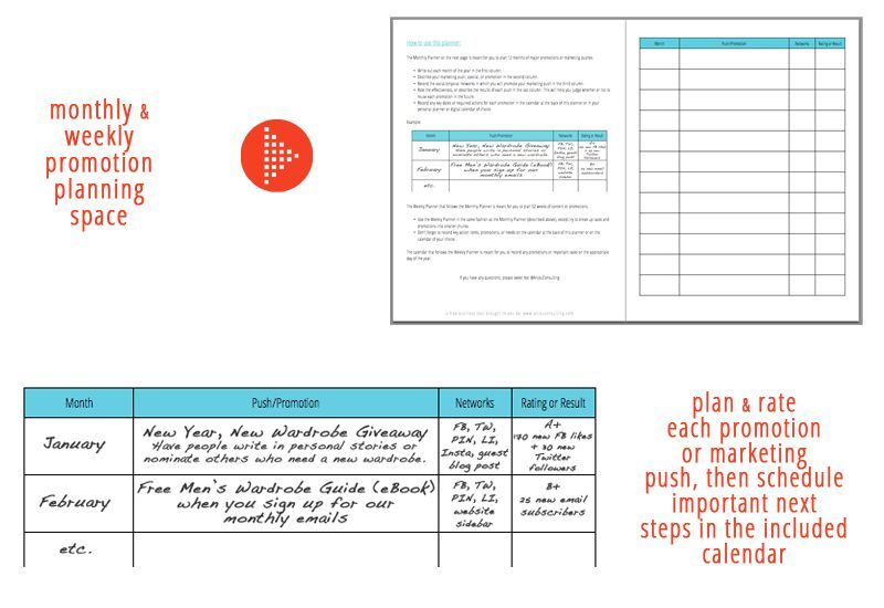 Free Marketing Planner Instant Download  By Regina For
