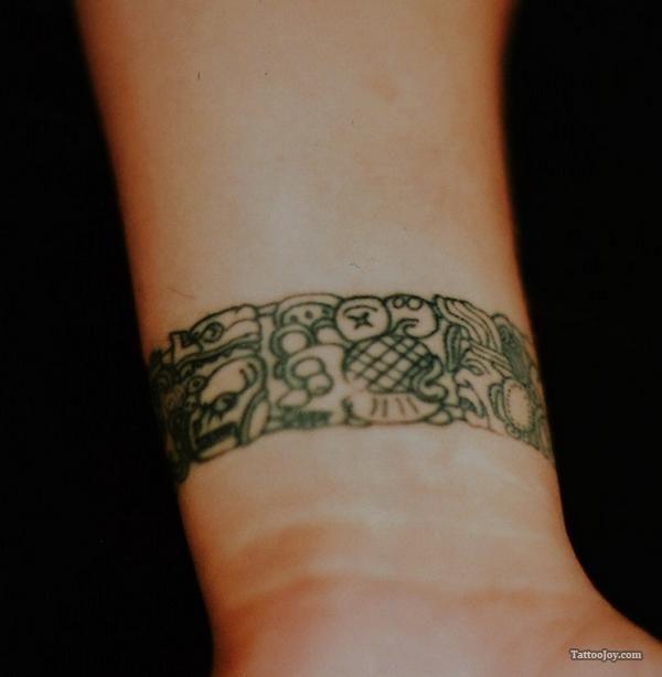 Mayan Glyphs Bracelet Tattoo Arm Band Tattoo Wrist Band Tattoo Mayan Tattoos