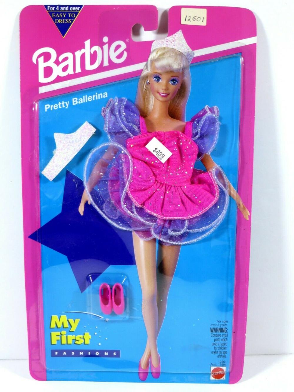 V699 Nib Barbie Doll 1994 My First Fashion Pretty Ballerina 12601 In 2020 Barbie Pretty Ballerinas Ballerina Barbie