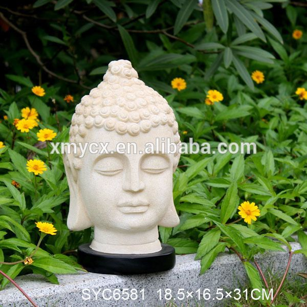 Polyresin Concrete Staute Molds Buddha Head For Sale 400 x 300