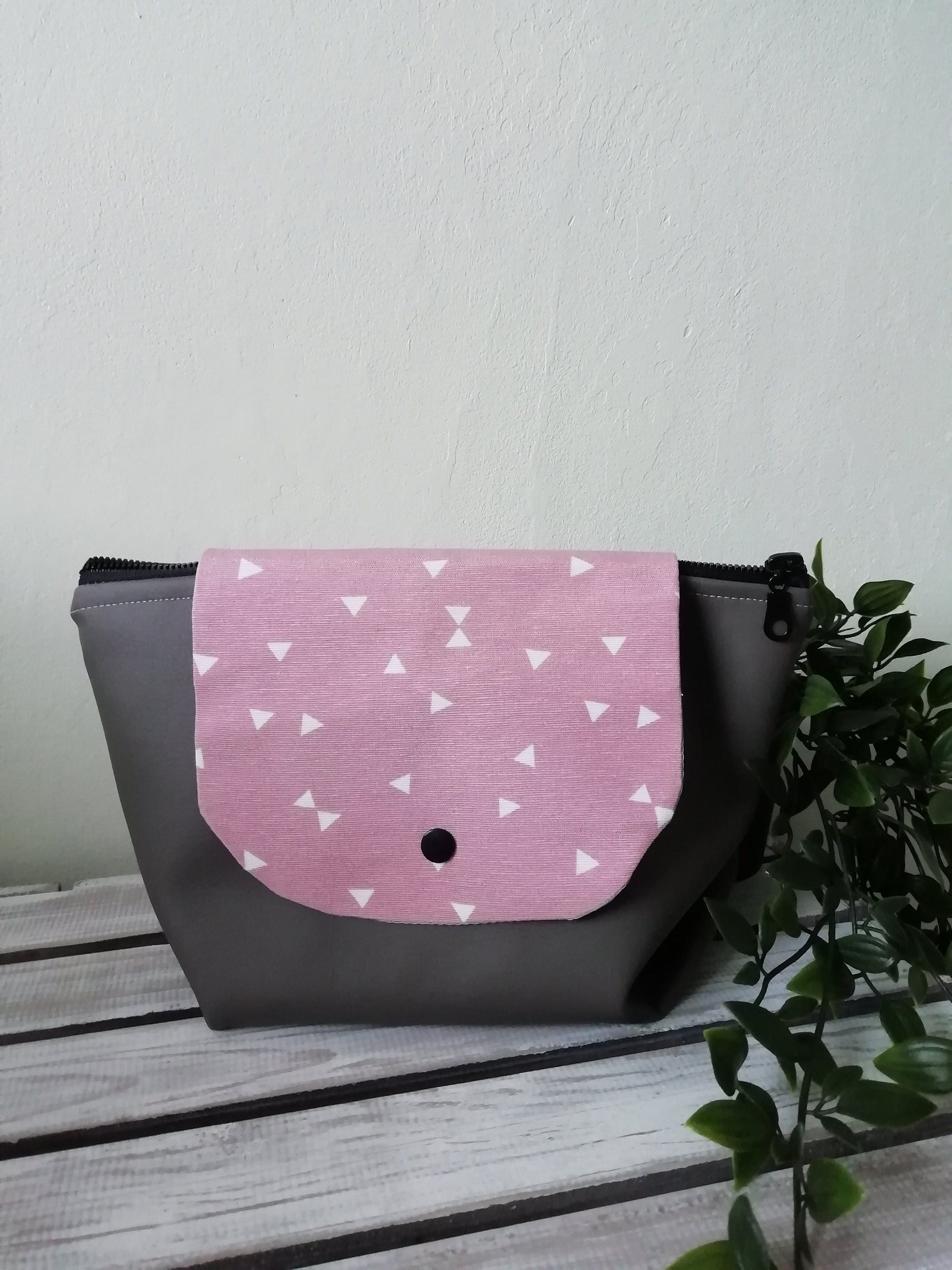 Handmade makeup bag with brush roll d8fa8cd0cce45