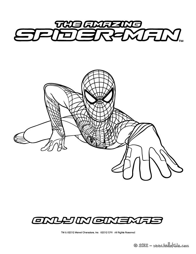 Spiderman bilder zum ausdrucken spiderman zum ausmalen for The amazing spider man 2 coloring pages