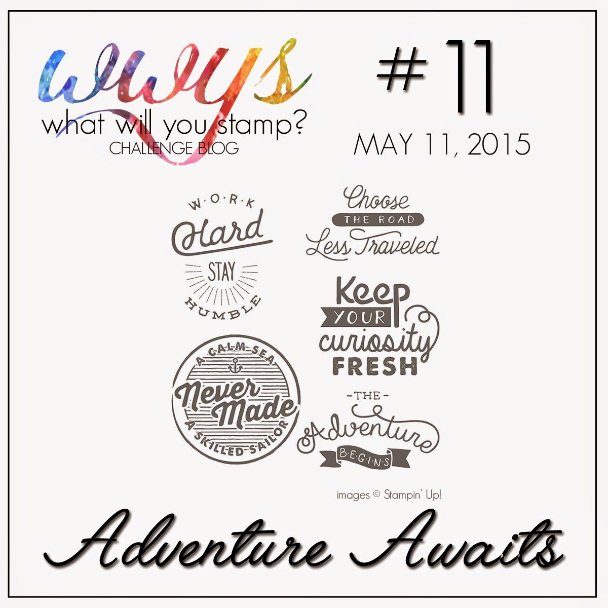 What Will You Stamp?: WWYS Challenge #11 // Adventure Awaits.