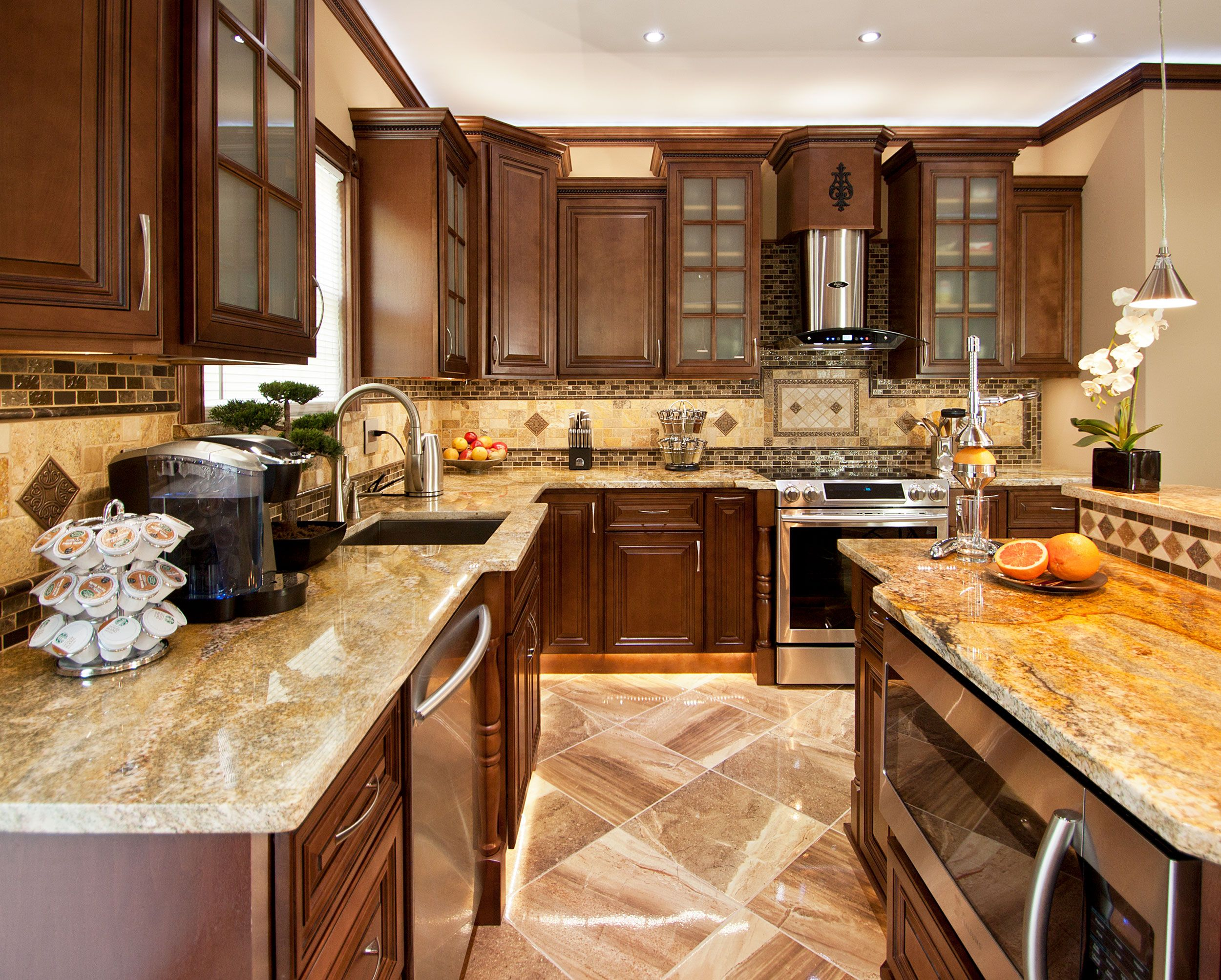Pin By Aaa Distributor On Featured Products Tuscan Kitchen Solid Wood Kitchen Cabinets New Kitchen Cabinets