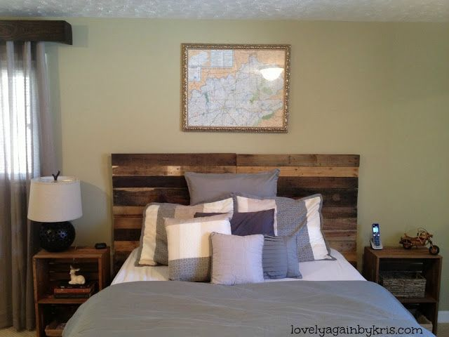 Diy Pallet Headboard Love The Multi Colored Wood Sublime Decor