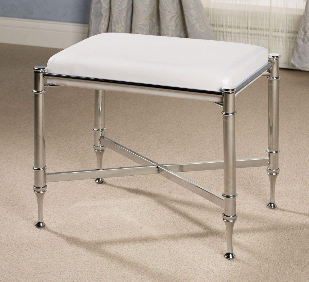 Bathroom vanity stool vanity stool brushed nickel hegimt