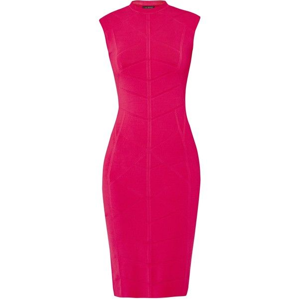 Ted Baker Sahskia Bodycon jacquard knitted dress ($225) ❤ liked on Polyvore  featuring dresses