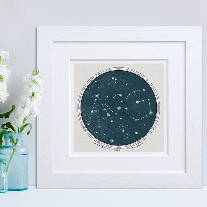 Personalised Star Map Print Gift Ideas Pinterest Initials - Star map now
