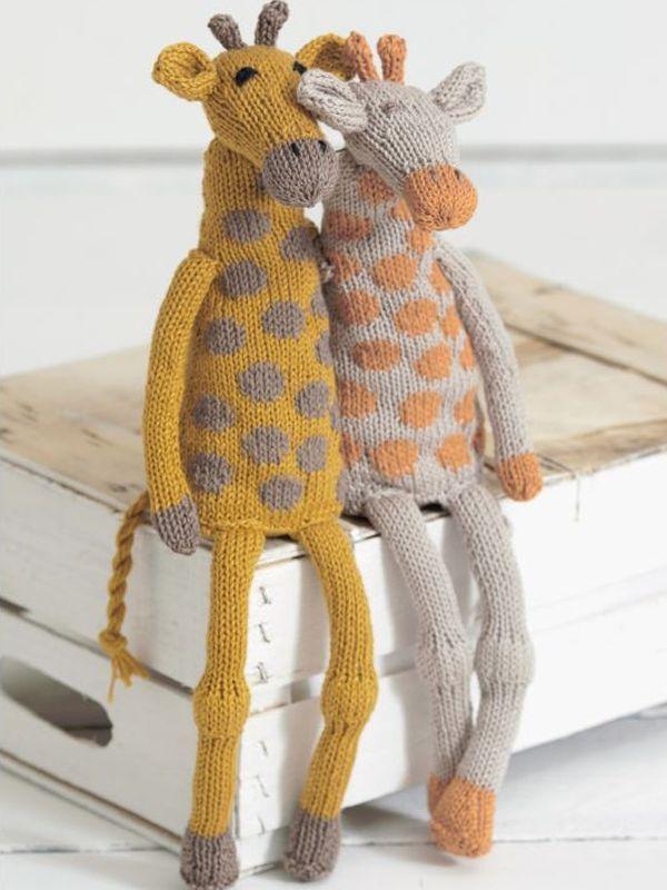 Noahs Ark Giraffes Sirdar Noahs Ark Giraffes Knit Dolls