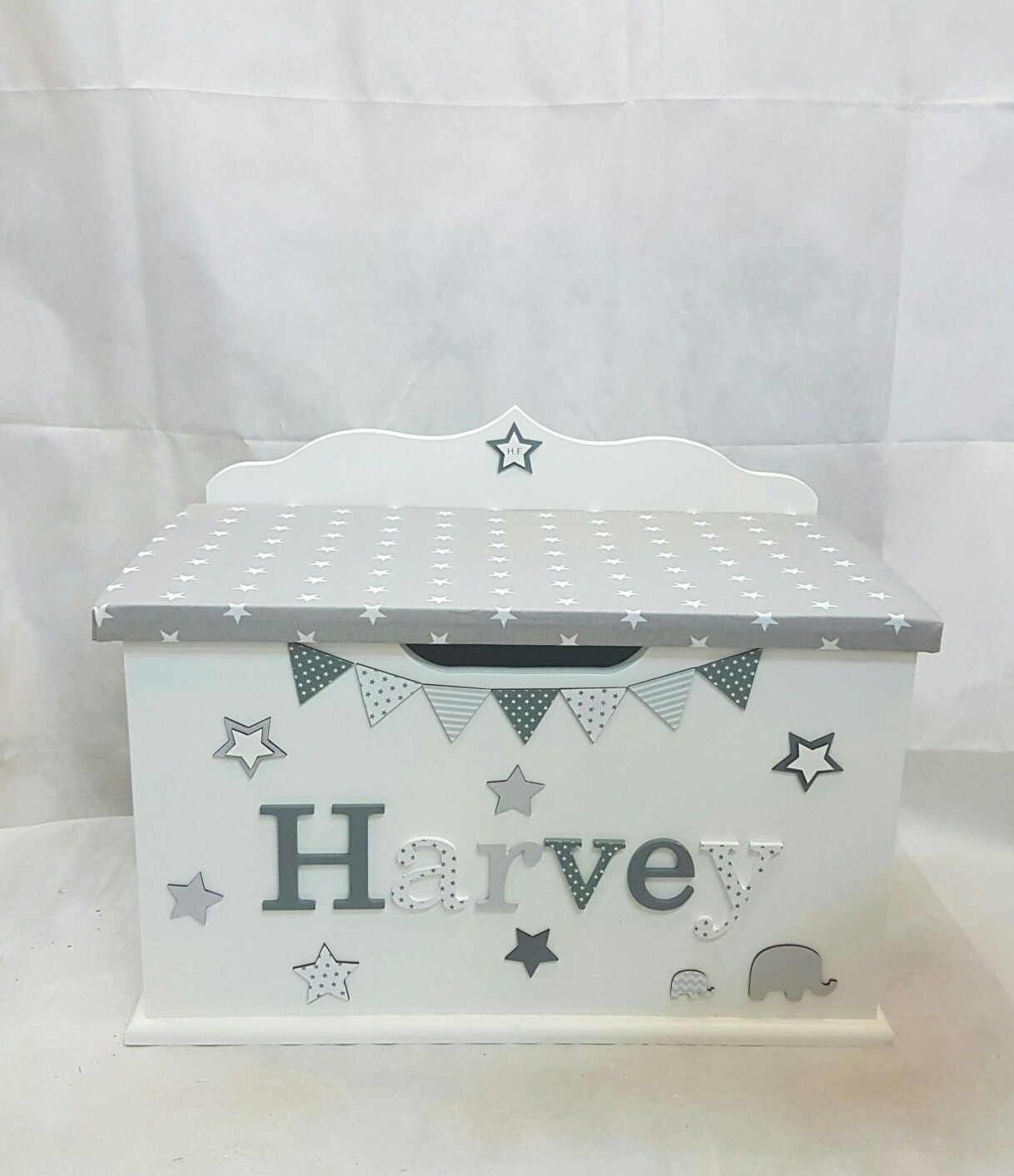 Newborn Bedroom Furniture Personalised Toy Box Children Baby Kids First Birthday Christmas