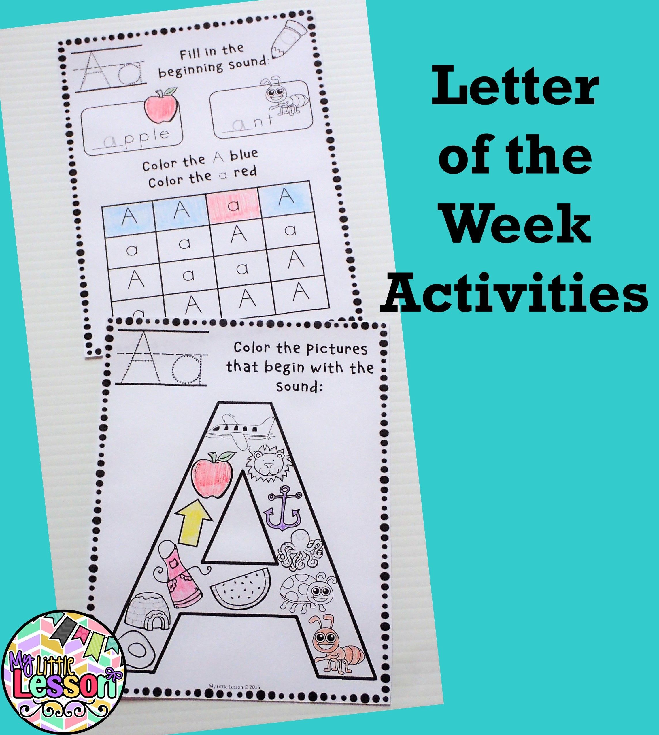 Letter of the Week Worksheets and Activities | Student-centered ...