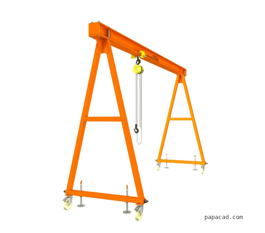 Gantry Crane Plans Download Free Gantry Crane Plans Pdf Papacad Com In 2020 Gantry Crane Crane Design Welding And Fabrication