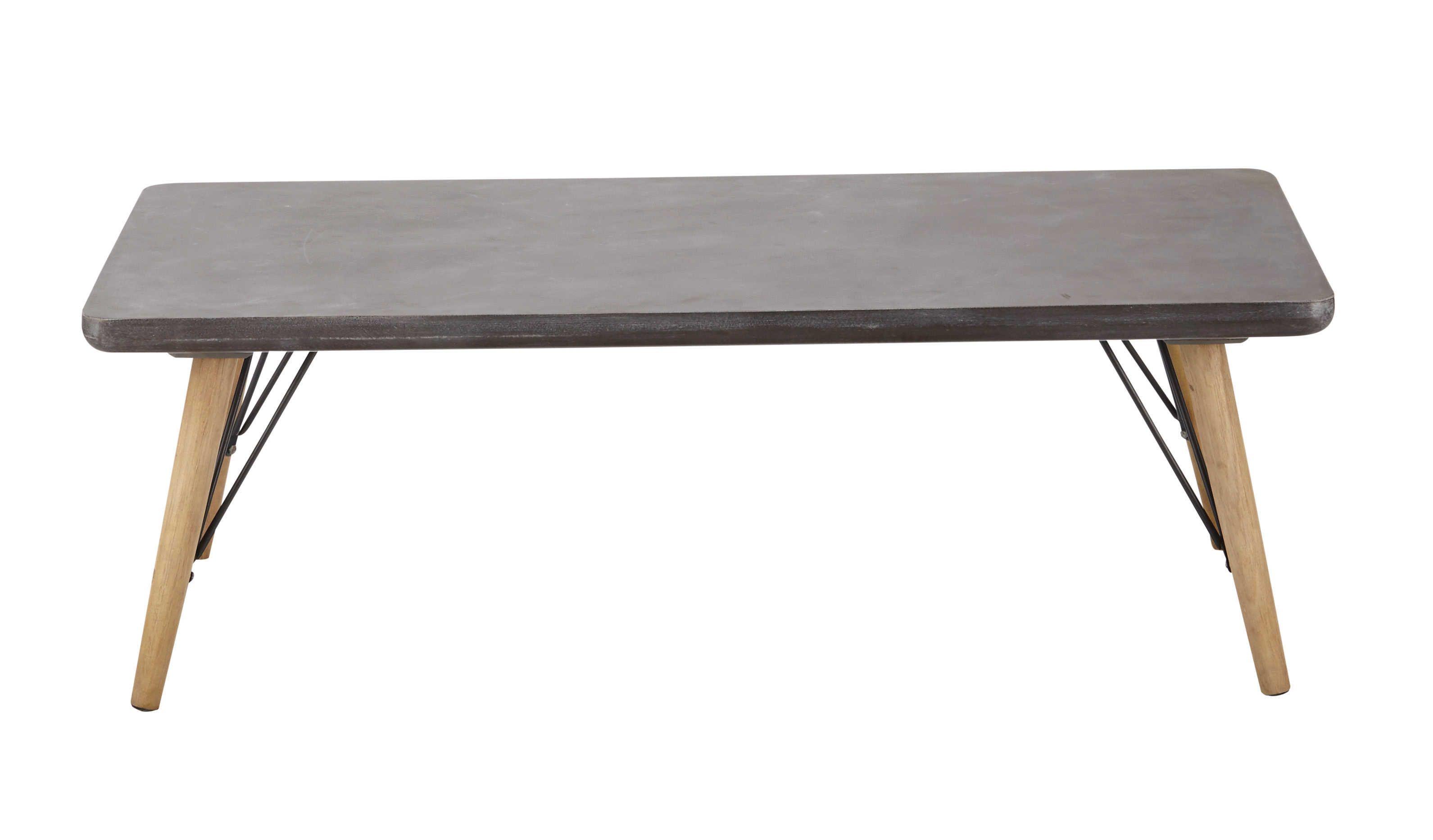 Table basse indus  roulettes en sapin et métal