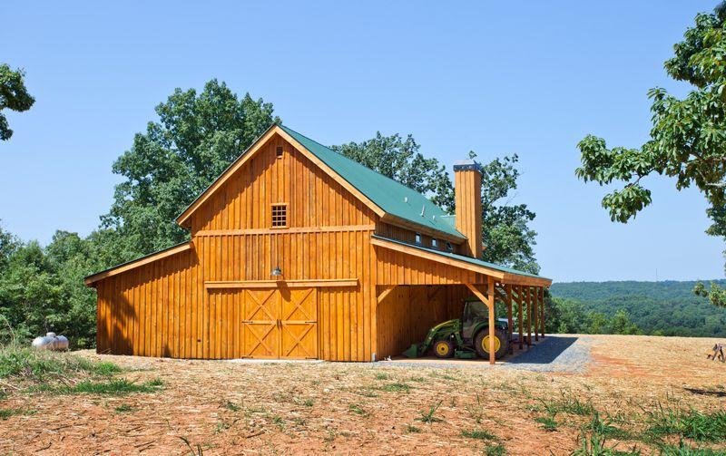 Western Horse Barn - Tractor Storage    www.sandcreekpostandbeam.com  https://www.facebook.com/pages/Sand-Creek-Post-Beam-Traditional-Post-Beam-Barn-Kits/66631959179