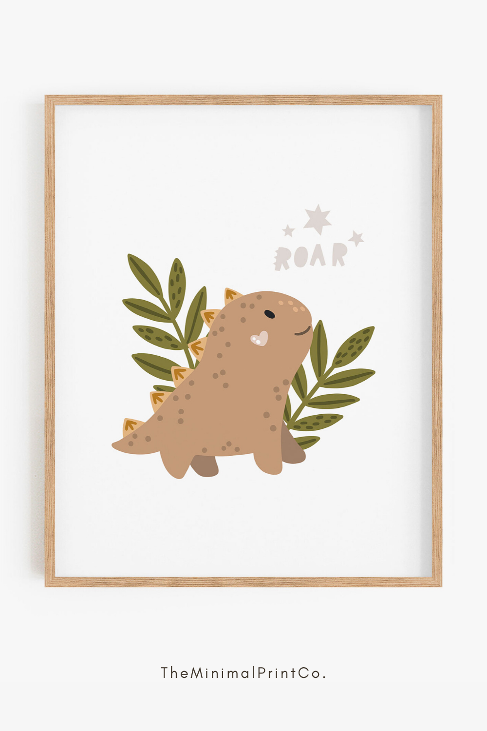Roar Dinosaur Print, Neutral Boy Nursery Decor, Dinosaur Nursery Decor