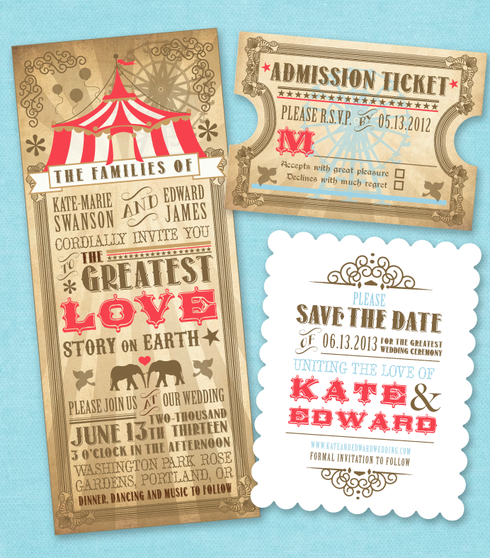 Nimbi Circus Themed Invitations | Admission ticket, Rsvp and Circus ...