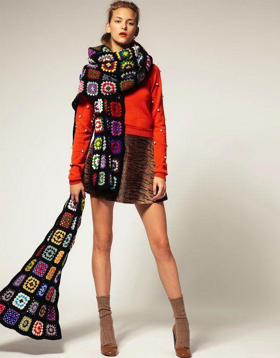 tendencias el crochet tiene gancho maxi bufanda