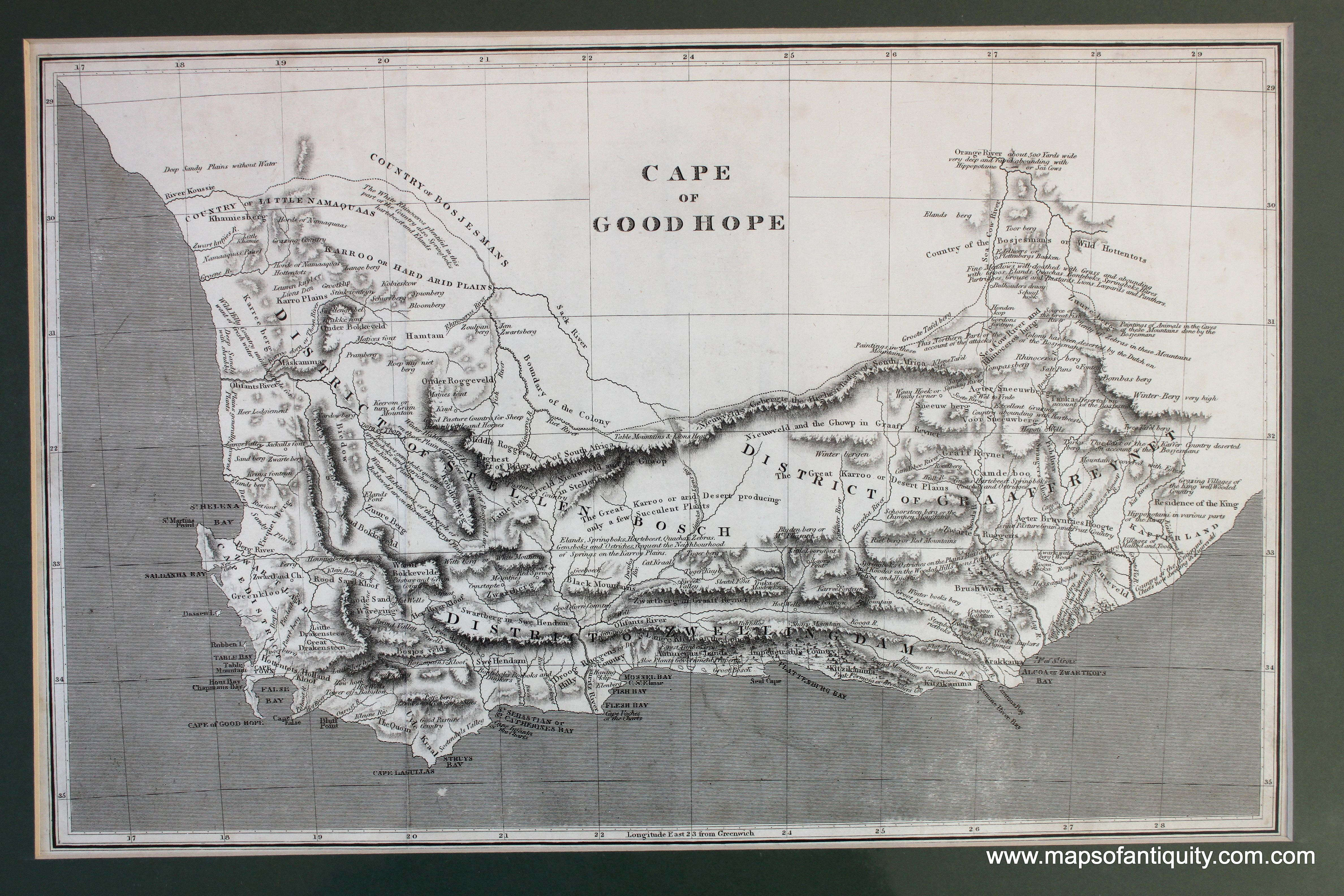 Antique Map South Africa Cape Colony 1806 | Antique Maps and