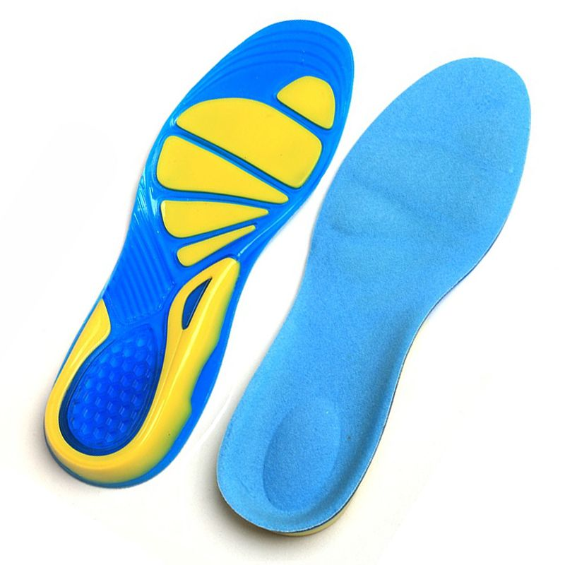 Shock Absorption Pads arch orthopedic insole Silicon Gel Insoles Foot Care for Plantar Fasciitis Heel Spur Running Sport Insoles