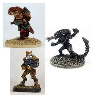 Khurasan Miniatures: Space Demons and Garn and Felids oh my