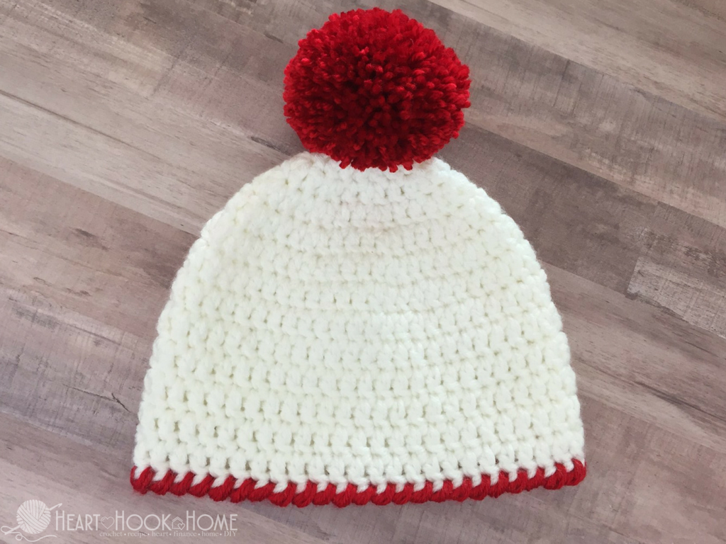 Easy Peasy 30-Minute Beanie Free Crochet Pattern | Gorro de crochet ...