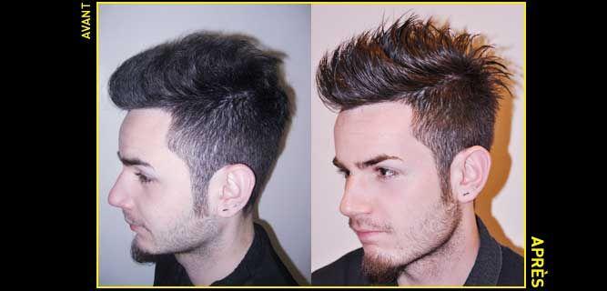 Defrisage cheveux homme paris