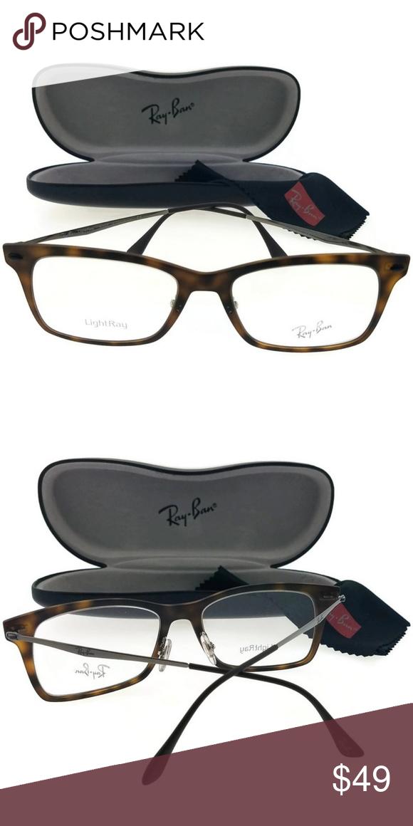 b8027f9579 RX7039-5200-53 Unisex Havana Frame Eyeglasses New beautiful Rayban RX7039- 5200-