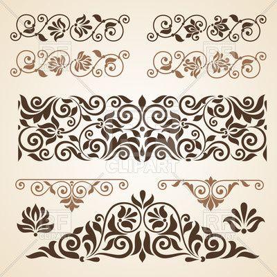 Curly Vintage Design Elements Collection 28861 Download Royalty Free Vector Clipart Eps Meditativnye Uzory Uzory Dlya Vyshivaniya Shablony Trafaretov