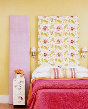DIY Headboard Fabric Option. Stretch Fabric In A Fun Pattern Over A Wood  Frame Or