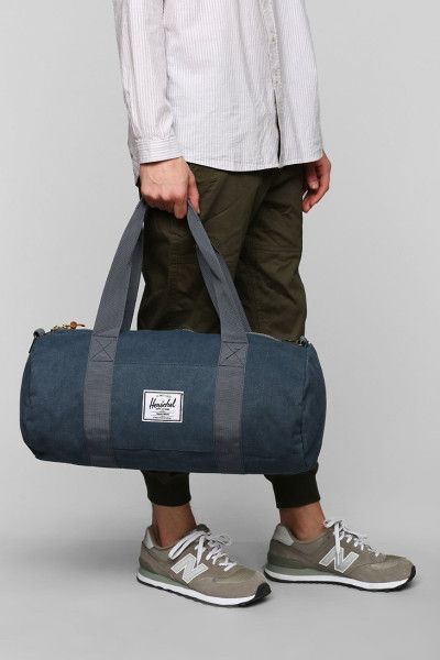 cde405ae0a3 Herschel Supply Co. Sutton Cotton Canvas Medium Duffle Bag in Blue for Men  (NAVY)   Lyst