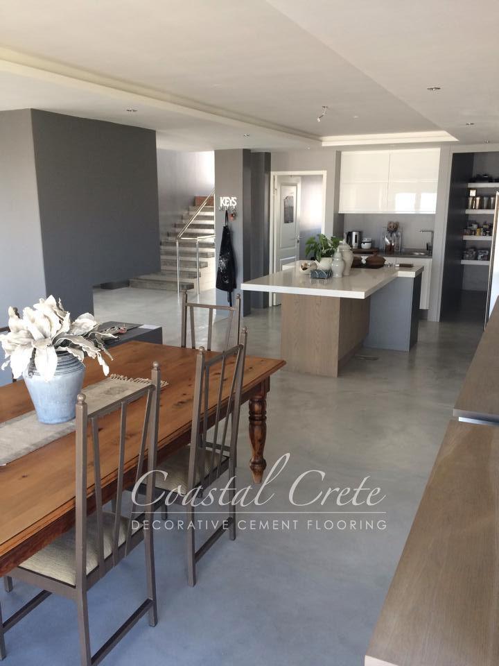 Coastal Crete Flooring Ash Grey Colour Screed Flooring Smooth