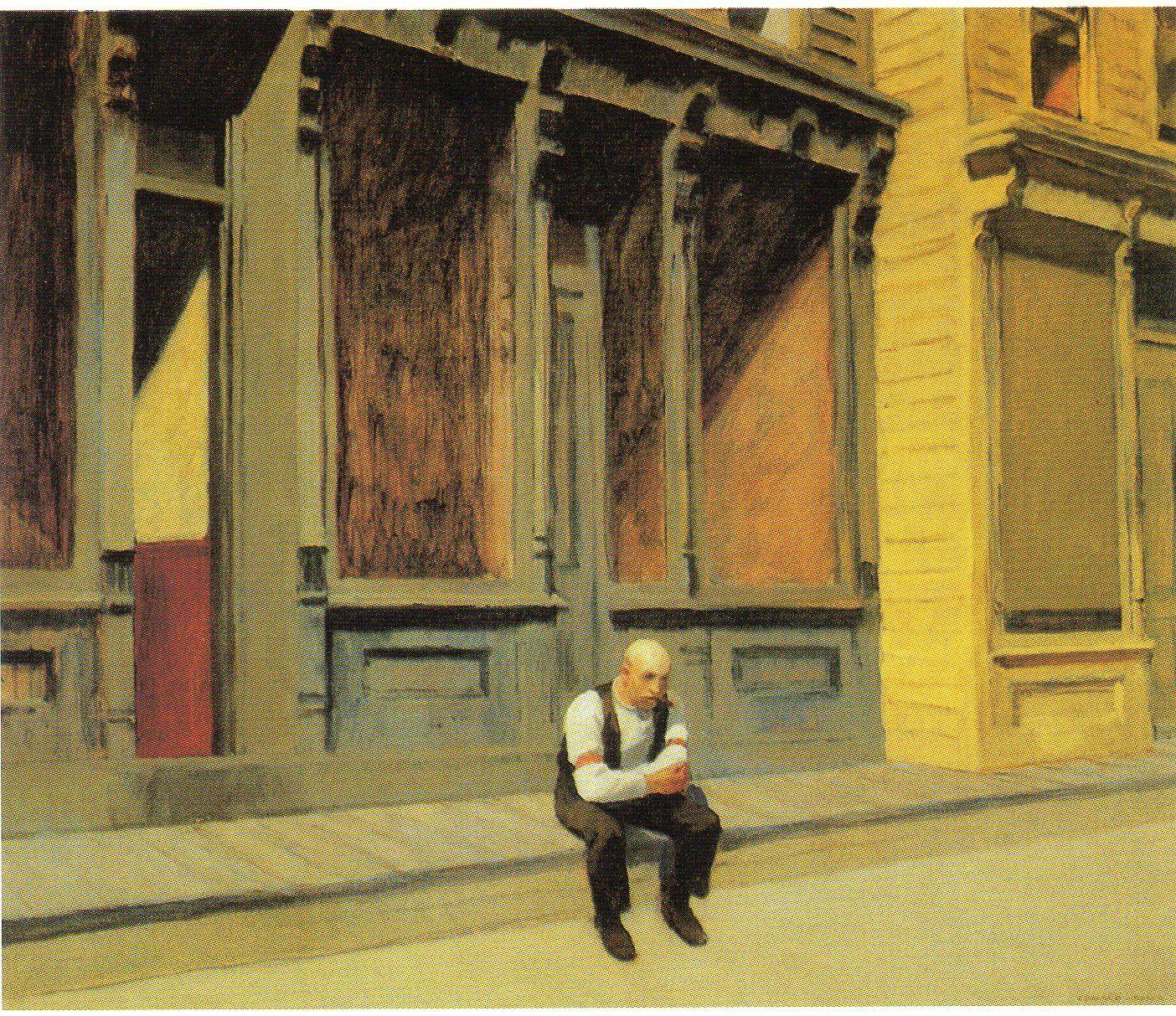 Sunday, Edward Hopper, oil on canvas, 29\