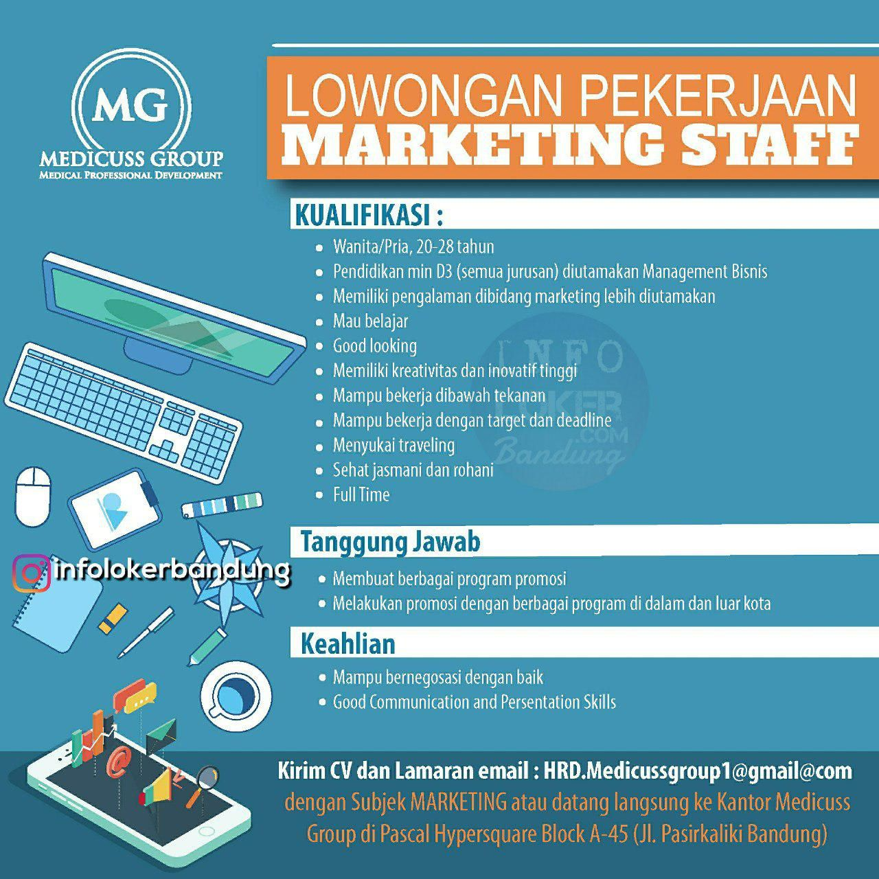 Lowongan Kerja Medicuss Group Bandung Oktober 2018 Marketing