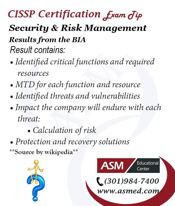 Cissp Certification Traning Exam Tipssp Security Risk