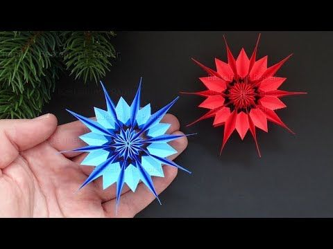 Easy Paper Star for Christmas - How to make a paper snowflake