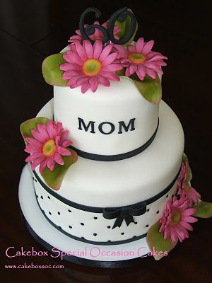 Superb Moms Daisy Cake With Images Daisy Cakes 60Th Birthday Cakes Personalised Birthday Cards Beptaeletsinfo