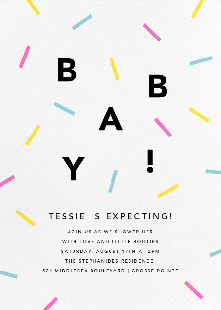 Baby Shower Invitation FREE Evite