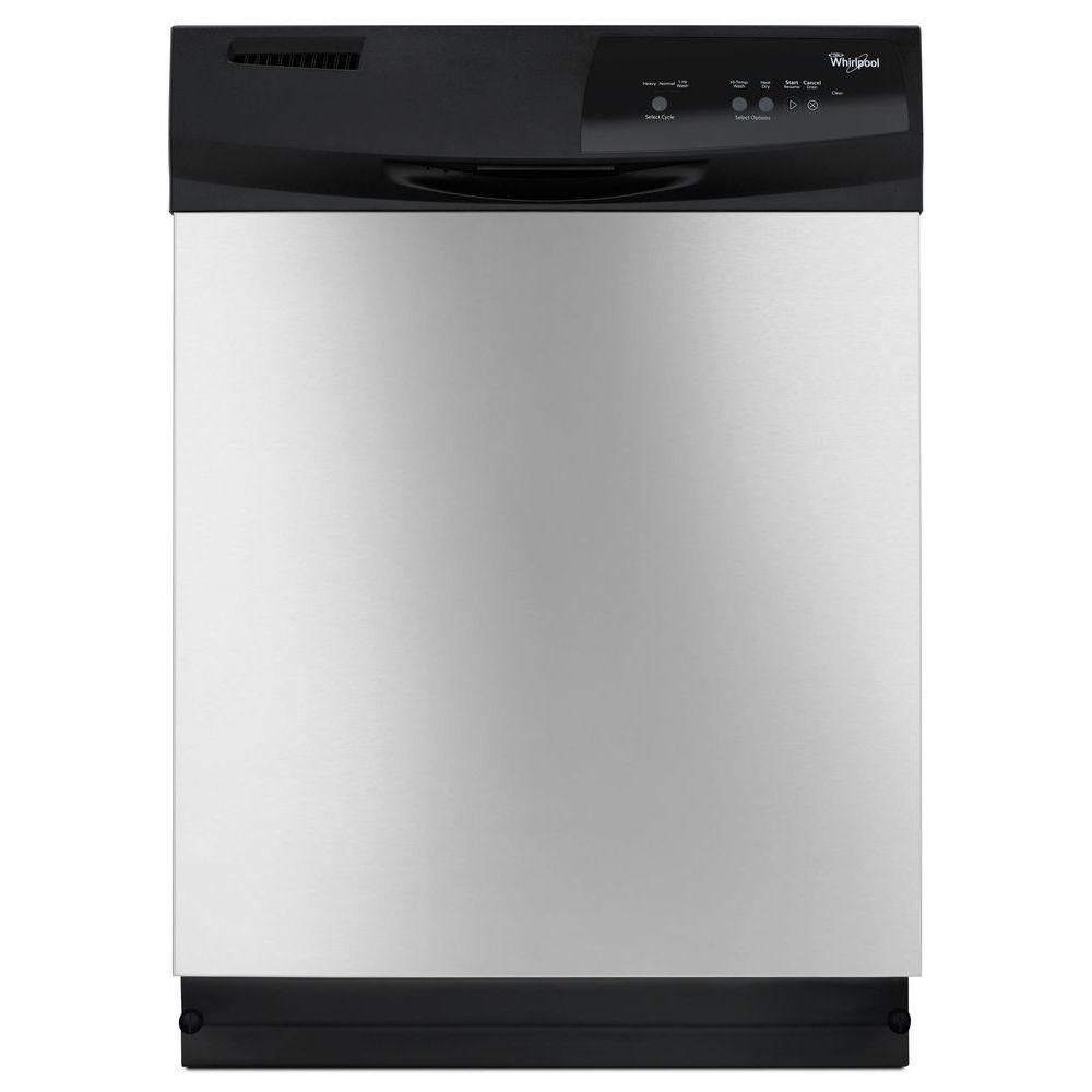 Whirlpool Front Control Dishwasher in Stainless Steel (Silver)